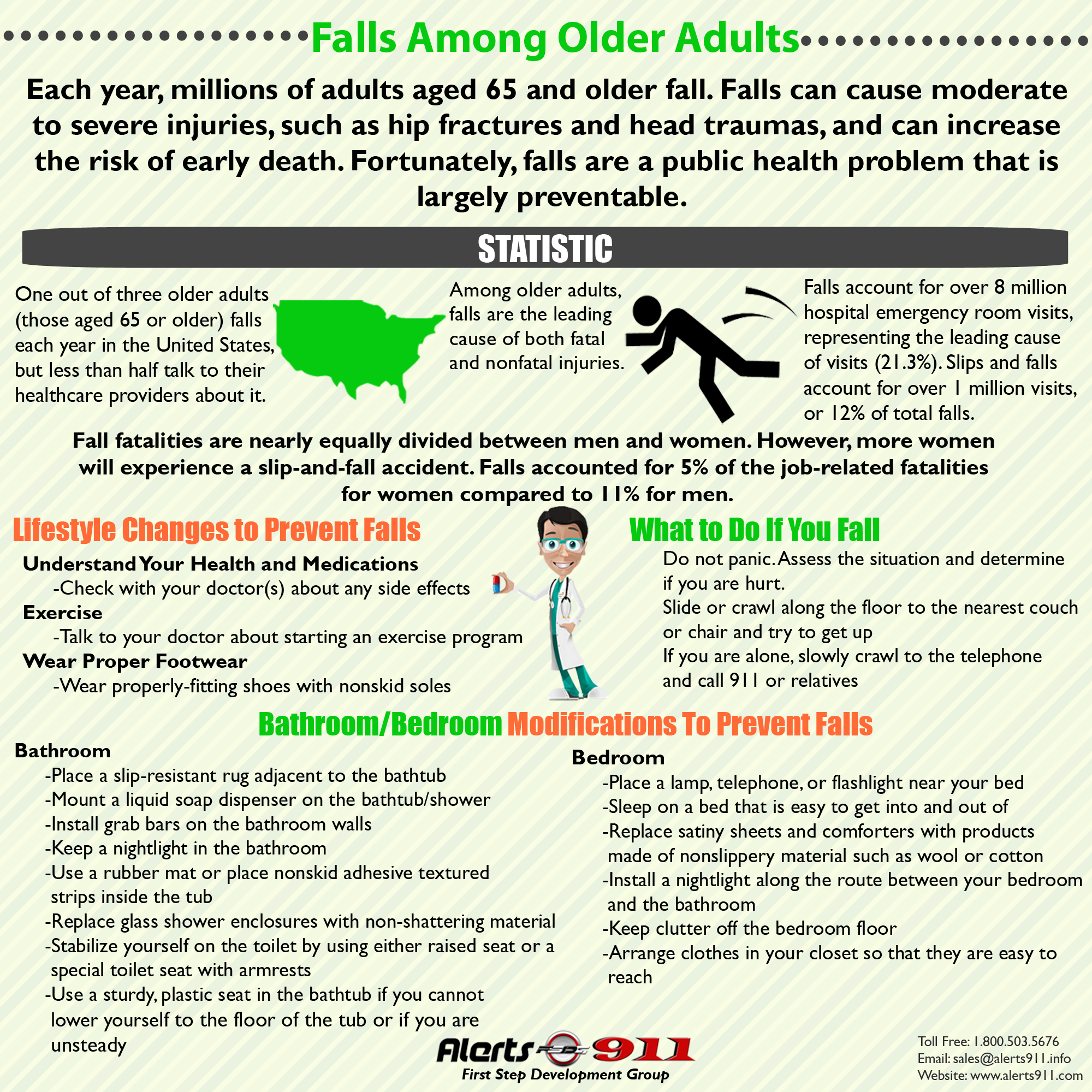 Falls-prevention, elderly adults, senior living, first step development group, alerts911, safety, security, personal emergency response systems
