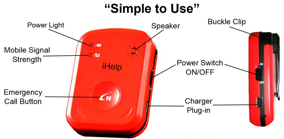ihelp simple to use, personal emergency response system, mobile alerts, alerts911, first step development group, security, elderly